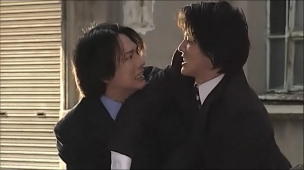 Hikawa and Hojo lock eyes. Romance is in the air